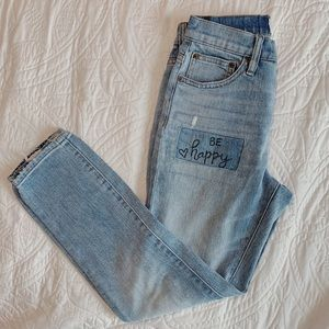 J.crew Ripped light wash high waisted ankle jeans